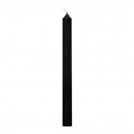 IGNIS - bougie - cire de paraffine - H 25 cm - noir