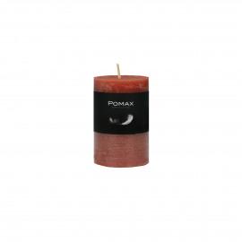 kaars - paraffine wax - DIA 5 x H 8 cm - terracotta