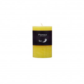 candle - paraffin wax - DIA 5 x H 8 cm - Yellow
