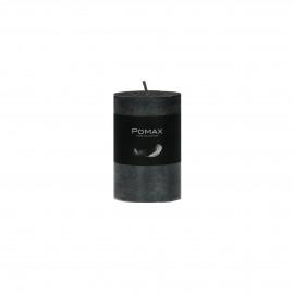 kaars - paraffine wax - DIA 5 x H 8 cm - zwart