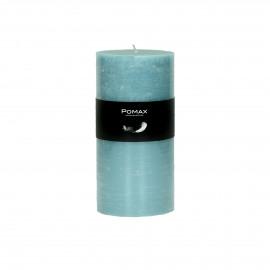 kaars - paraffine wax - DIA 7 x H 14 cm - blauw