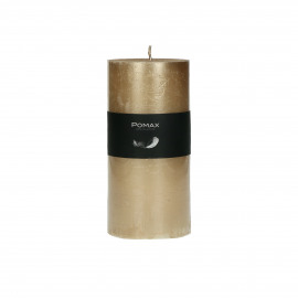 candle - paraffin wax - DIA 7 x H 14 cm - champagne
