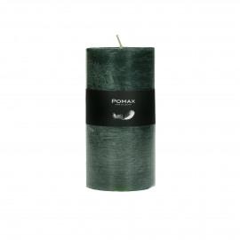candle - paraffin wax - DIA 7 x H 14 cm - Dark Green