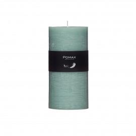 kaars - paraffine wax - DIA 7 x H 14 cm - Licht groen