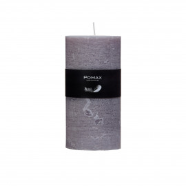 Candle - Paraffin wax - DIA 7 x H 14 cm - Light Gray
