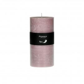 Kaars - poeder roze - D7h14cm - 8st/doos burning hours = 72 hrs