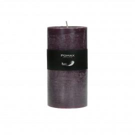 kaars - paraffine wax - DIA 7 x H 14 cm - purper