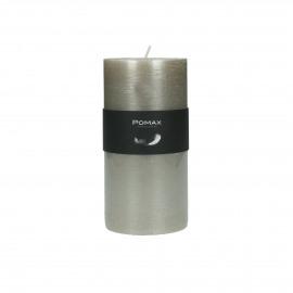 bougie - cire de paraffine - DIA 7 x H 14 cm - Argent