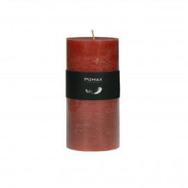 kaars - paraffine wax - DIA 7 x H 14 cm - terracotta