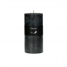 Kaars zwart D7H14 (8st/doos) burning hours = 72 hrs