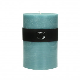 bougie - cire de paraffine - DIA 10 x H 15 cm - bleu