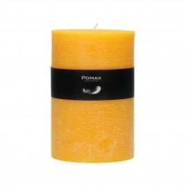 CANDLE - Bougie Q211 - cire de paraffine - DIA 10 x H 15 cm - safran