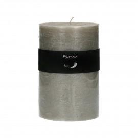 bougie - cire de paraffine - DIA 10 x H 15 cm - argent