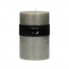 candle - paraffin wax - DIA 10 x H 15 cm - silver
