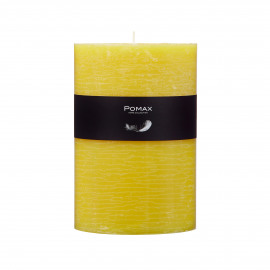 candle - paraffin wax - DIA 10 x H 15 cm - Yellow