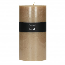 candle - paraffin wax - DIA 10 x H 20 cm - champagne