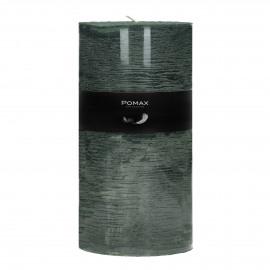 kaars - paraffine wax - DIA 10 x H 20 cm - Donker groen
