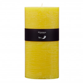 candle - paraffin wax - DIA 10 x H 20 cm - Yellow