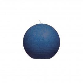 Kaars bol - paraffine wax - DIA 6 cm - Donker Blauw