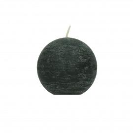 candle ball - paraffin wax - DIA 6 cm - Dark Green