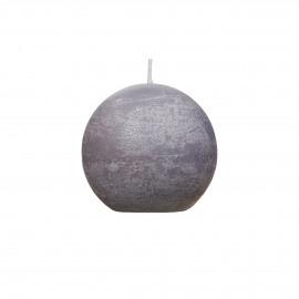 candle ball - paraffin wax - DIA 6 cm - Light Gray