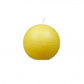 Kaars bol - lemon - D6cm - burning hours = 16 hrs