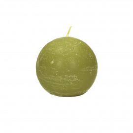 Bougie boule - curcuma - D6cm - 12pcs/boîte heures de brûlage = 16 h - cire de paraffine - Curcuma