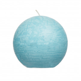 Candle ball - Paraffin wax - DIA 9 cm - Blue