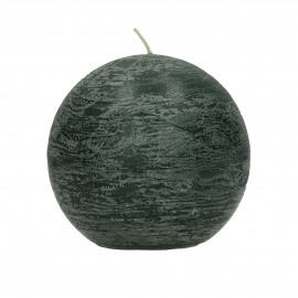 Candle ball - Paraffin wax - DIA 9 cm - Dark Green