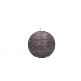 kaars bol - paraffine wax - DIA 9 cm - Lila