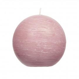 kaars bol - paraffine wax - DIA 9 cm - Licht roze