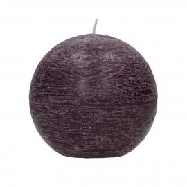 kaars bol - paraffine wax - DIA 9 cm - Purper