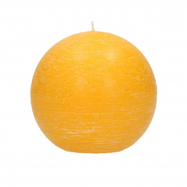 CANDLE - Candle ball - paraffin wax - DIA 9 cm - safron