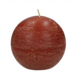 CANDLE - candle ball - paraffin wax - DIA 9 cm - terracotta