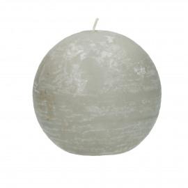kaars bol - paraffine wax - DIA 9 cm - Linnen