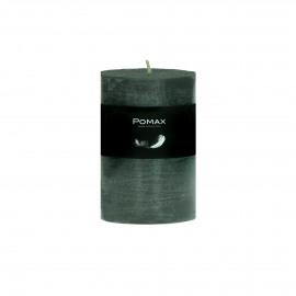 kaars - paraffine wax - DIA 7 x H 10 cm - Donker groen