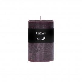kaars - paraffine wax - DIA 7 x H 10 cm - purper