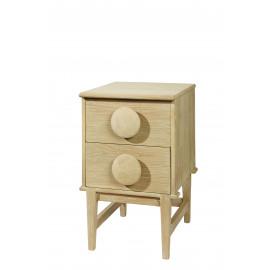 EGERIE - commode  2D - oak - natural -47x55x77cm