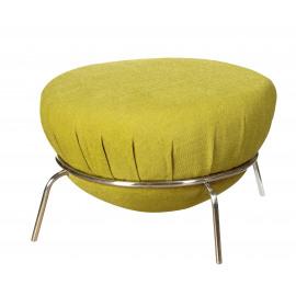 SPOUTNIK - pouf - inox/textiel - groen -Ø70X39cm