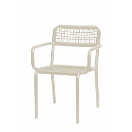 TOTEM - fauteuil - aluminium/pvc - sandy white/blanc - 57x61x80 in/outdoor use
