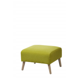 VEDA - stool - wood/fabric - light green - 52x52x36 cm