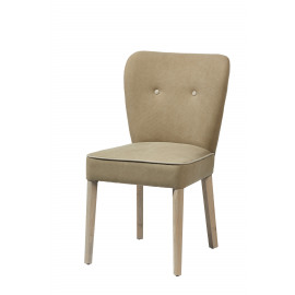 FLORIDE - chair - wood/fabric - sand/nat - 51,5x62xh88cm