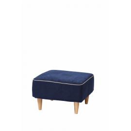 ZAZOU - ottman KD  - 100% polyester - marine blauw - 56x56x42 cm