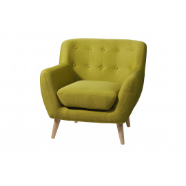 BLOOM - Armchair - polyester/ ash- apple green - 85x81x82 cm
