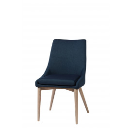 EERO - chaise repas - polyester/frêne - blue jean's - 61x50x88 cm
