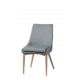 EERO - stoel - polyester/essehout - hemelsblauw  - 61x50x88 cm