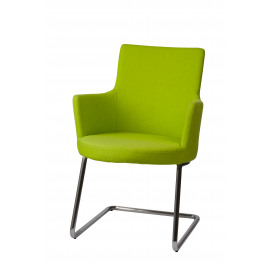 JACKSON - armchair - stainless steel/ fabric - green - 60x56x88cm