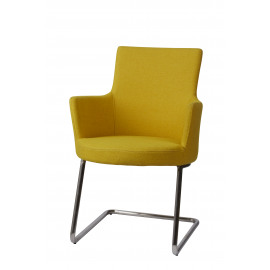 JACKSON - armchair - stainless steel/ fabric - yellow - 60x56x88cm