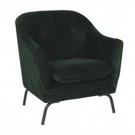 LUSSO  - fauteuil  - velvet - L 80 x W 76 x H 86 cm