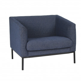 CONY - armchair - structured slub - jeans blue - 90x73,5xh74 cm